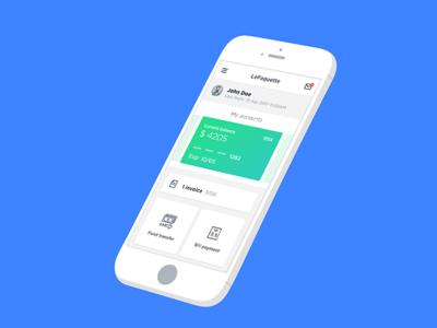 LeFaguette - Mockup fintech banking accounts transfer money finance ux app mobile