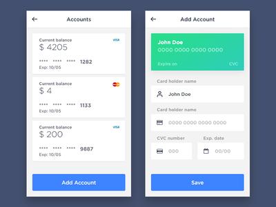 LeFaguette - Accounts mobile app ux finance money transfer accounts banking fintech