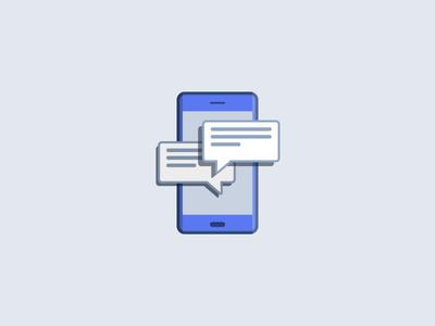 Messages Illustration social messenger flat notifications illustration phone messages sms