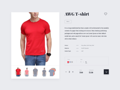 Weekly UI - 1 gray clothes shop t-shirt ecommerce store product