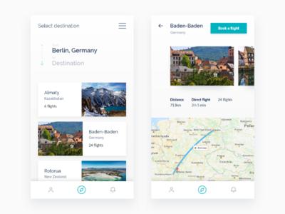 Weekly UI - 3 explore tickets flight city trip travel booking book