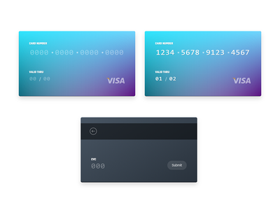 Weekly UI - 8 credit card dailyui css ux animation animation input form visa checkout payment bank card card