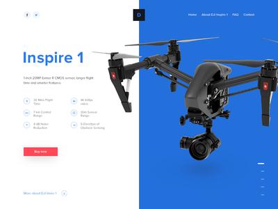 Weekly UI - 10 cta hitech tech quadrocopter quadcopter blue hero landing page landing drone
