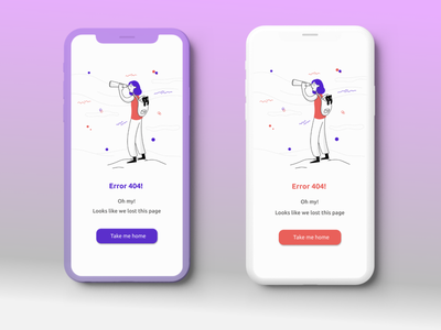 Daily UI error 404 minimal illustration ux ui