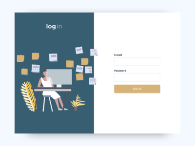 Log in experience design log in screen illustration web experience log in