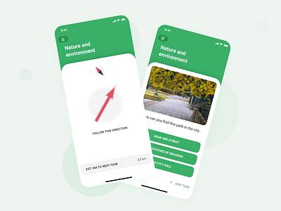 TROVI - an active outdoor game nature park walk run activity mobile outdoor app design game app