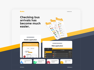 Prevozki product landing page app web transport landing page design mobile app landing page branding design