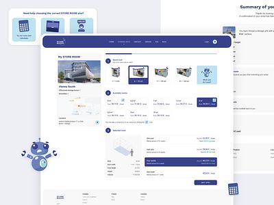 Storage unit rental checkout process rental rent payment cart web design web space store unit storage checkout website