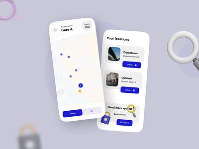 Unlocking app exploration fun modern maps geofencing nearby gate storage storage unit unlock app