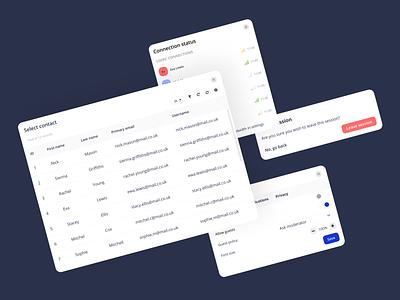 Web app modals minimal typography ui design modal ui design