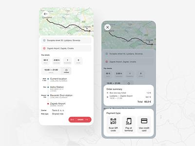 Ride planning platform transport share trip app uber car bus taxi ride