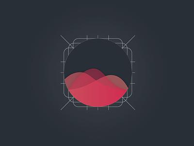 Music app icon waveform sound waves icon music