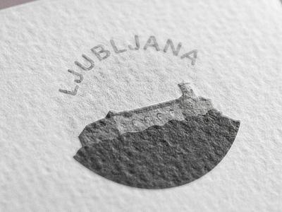 Ljubljana Castle illustration - print icon print castle ljubljana