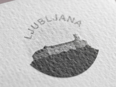 Ljubljana Castle illustration - print icon print castle ljubljana