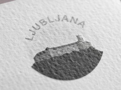 Ljubljana Castle illustration - print