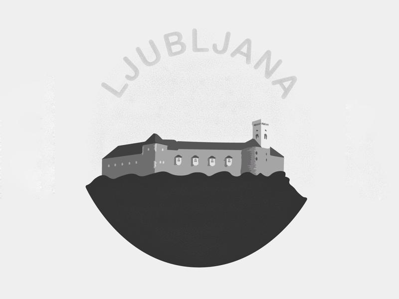 Ljubljana Castle illustration icon illustration castle ljubljana