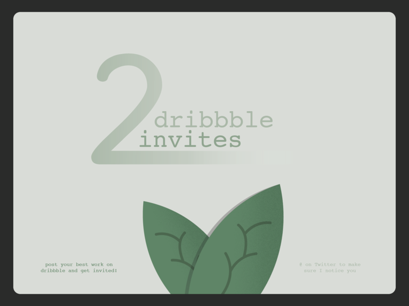2 invites to give away! design prospect debut illustration invite