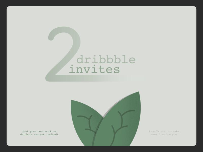 2 invites to give away! design prospect debut illustration invite
