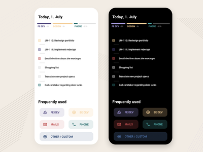 Project tracking with To-Do todo app light dark dark mode ui illustration design iphone x iphonex iphone ios mobile design mobile ui mobile app design tracking tracking app project mobile app mobile
