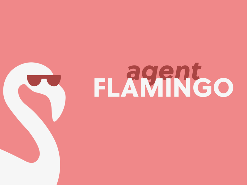 Logo for a WebShop logotype flamingos web store webshop logo flamingo