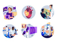 Color Genomics – Product Illustrations icons spot illustrations healthcare health genome genomics medical conceptual vector illustration product illustration