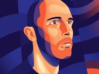 Self-Portrait pattern vector headshot profile image texture profile face illustration portrait art portrait