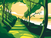 West Highland Way – label Illustration