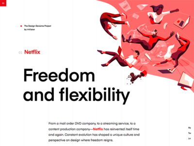 Netflix | Design Genome vector typography design grid education user interface blue product illustrations ui product illustration red