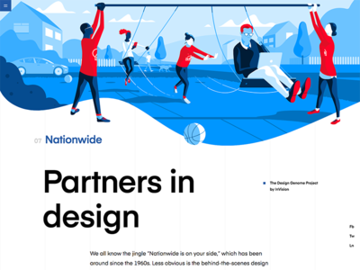 Nationwide | The Design Genome Project red product illustration ui illustrations product blue user interface education grid design typography vector