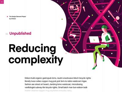 Genome illustration dna vector typography design grid education user interface purple illustrations ui product illustration green