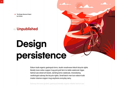 Persistence vector typography design grid education user interface bike product illustrations ui product illustration red
