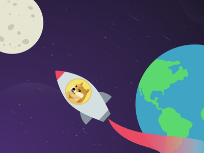 TO THE MOON space moon galaxy cryptocurrency illustration