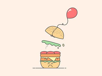 Something went wrong  mobile empty state delivery food burger server error illustration ui error