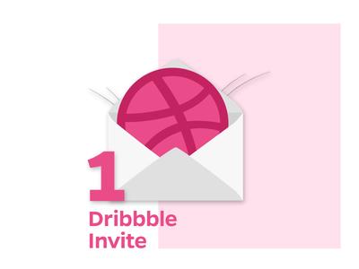 Dribbble Invite draft player iconography icon illustration mail postcard ball invitation invite dribbble