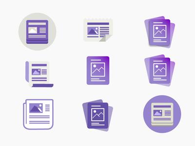 News App -  Iconography icons simple app news illustration minimal iconography icon ui