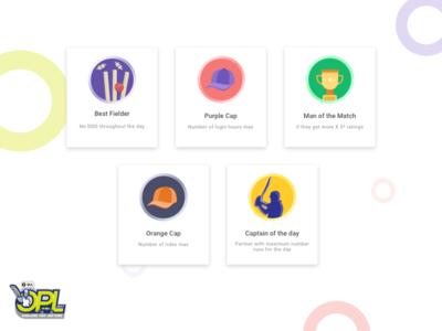 Ola Partner League partner olacabs ipl minimal wicket trophy cap illustration cricket ux icon ui