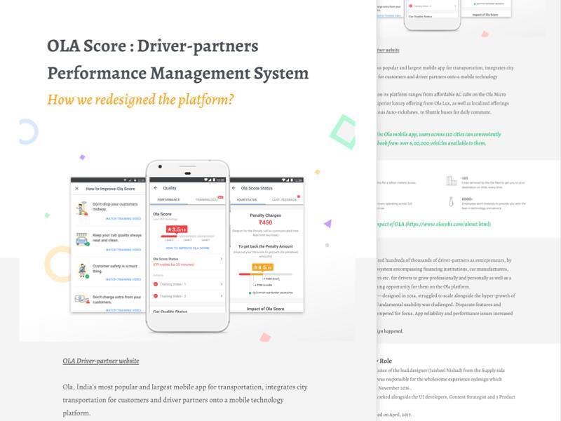Ola Score - Portfolio Case Study by Ivy Mukherjee on Dribbble