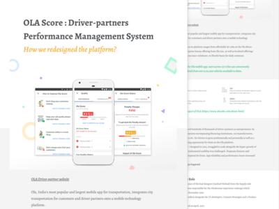 Ola Score - Portfolio Case Study