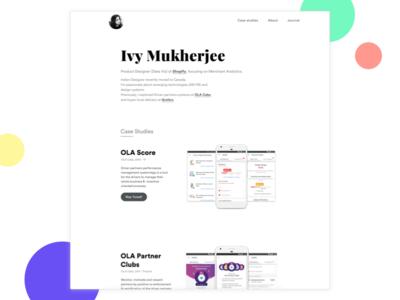 My Portfolio - Live website product casestudies illustrations ux ui minimal design portfolio