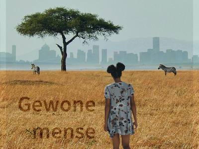 Gowene mense mobile clean graphic design branding illustrator flat animation african woman africa typography minimal design illustration ordinary
