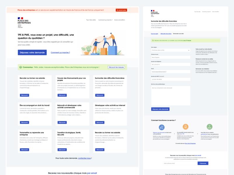 Place des Entreprises (Figma) ui website design french ux