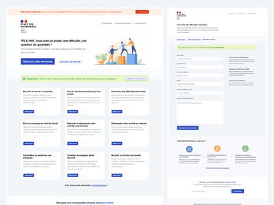 Place des Entreprises (Figma) ui website design french ux