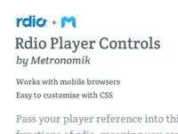 Rdio Music Player Controls
