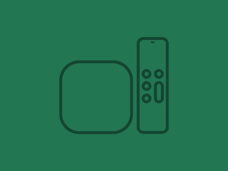 Apple TV Icons by Lloyd Humphreys | Dribbble | Dribbble