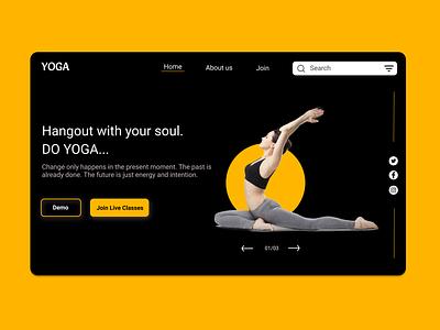 Yoga Website Landing Page landing page design website design website landing page ui design yoga pose uxdesign uidesign yoga yoga website landing page yoga app
