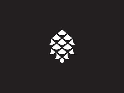 Pine Cone pine tree modern iconography graphic illustration design icon