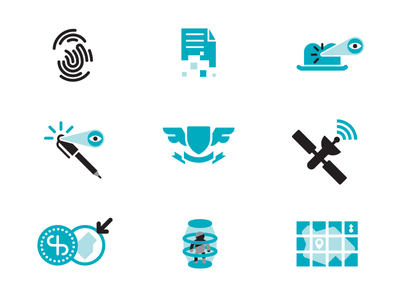 Spy Icons science flat ux education thicklines pattern iphone logo branding icon line icons artwork art modern iconography vector graphic design illustration