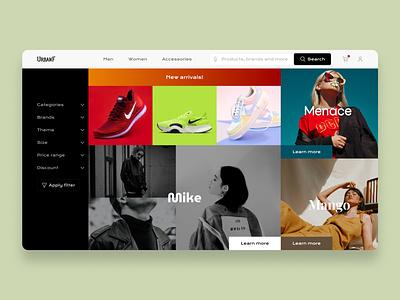 UrbanF Shopping site myntra flipkart amazon website shopping ui ux branding uiux design