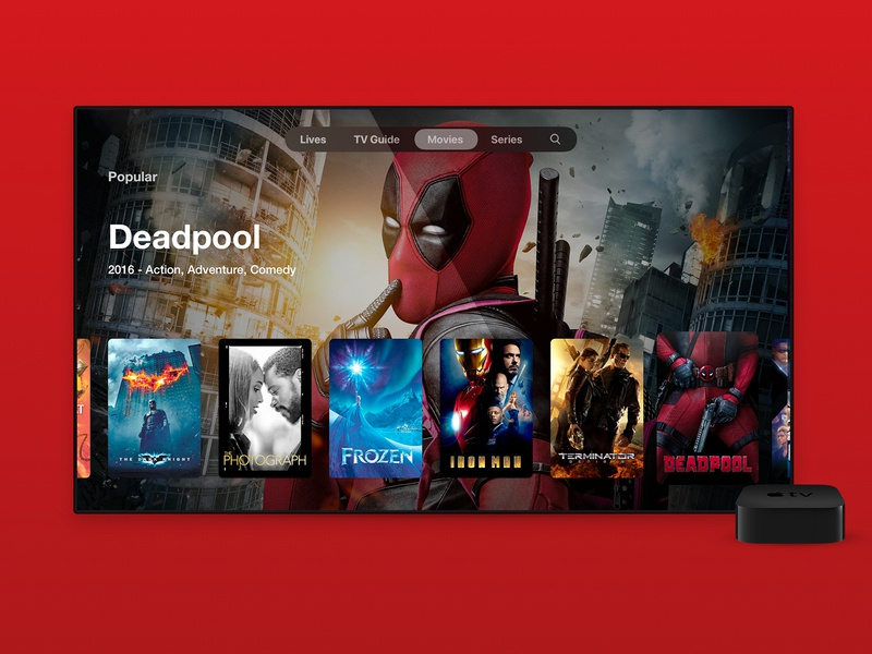 WatchIPTV - tvOS Movie app for apple tv tv series tv show tv app movie app movie iptv tv apple apple tv