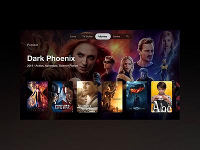 WatchIPTV - tvOS Movie app for apple tv ios appletv tvos iptv movie app movie tv tv design tv show tv app